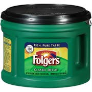 Folgers Decaffeinated Classic Roast Ground Coffee - 22.6 oz. can, 6 cans per case