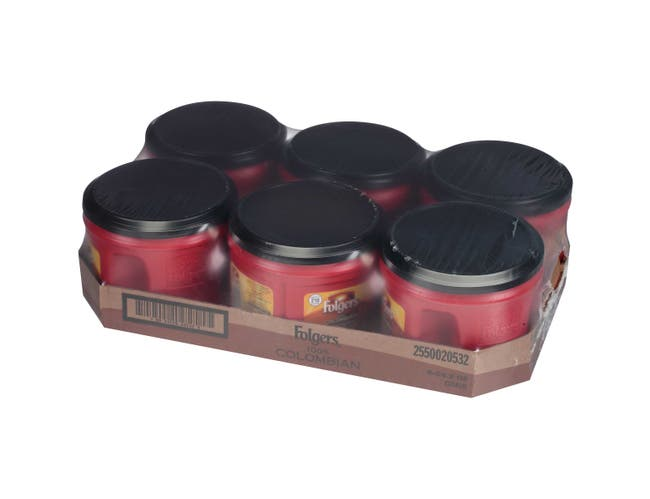 Folgers Caffeinated Colombian Ground Coffee, 24.2 Ounce -- 6 per case.