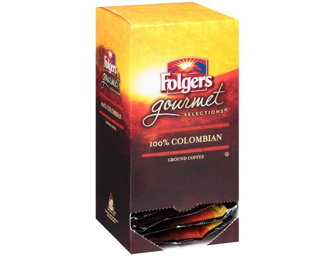 Folgers Gourmet Selections 100 Percent Colombian Coffee Pod, 180 Gram -- 6 per case.