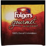 Folgers Gourmet Selections Coffee Pods, 100% Colombian Decaf, 18/Box
