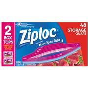 Ziploc Easy To Open Quart Storage Bag, 48 count per pack -- 9 per case.