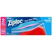 Ziploc Easy To Open Value Pack Gallon Freezer Bag, 28 count per pack -- 9 per case.