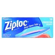 Ziploc Easy To Open Quart Freezer Bag, 19 count per pack -- 12 per case.