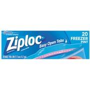 Ziploc Easy To Open Pint Freezer Bag, 20 count per pack -- 12 per case.