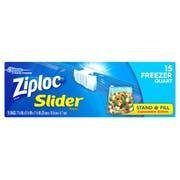 Ziploc Freezer Quart Slider Bag, 15 count per pack -- 12 per case.