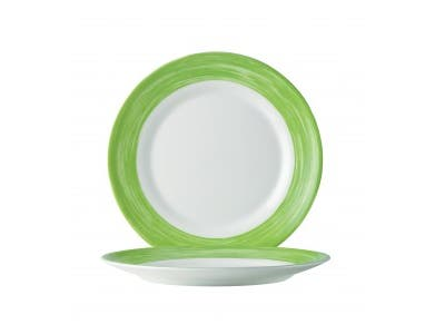 Arcoroc Brush Opal Fully Tempered White Green Side Plate, 7 1/2 inch -- 24 per case.