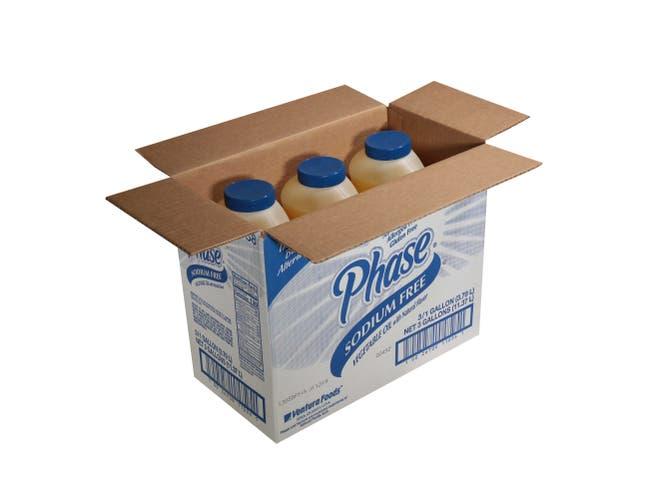 Phase No Sodium Liquid Oil, 1 Gallon -- 3 Per Case