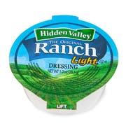 Ventura Foods Light Hidden Valley Original Ranch Dressing, 1 Ounce -- 160 per case.
