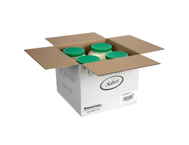 Ventura Foods Classic Gourmet Select Creamy Garlic Italian Salad Dressing, 4 Gallon -- 1 each.