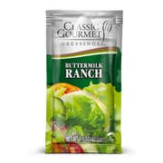 Classic Gourmet Buttermilk Ranch Dressing, 1.5 Ounce Pouch -- 60 per case.