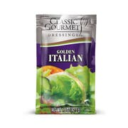 Classic Gourmet Fat Free Italian Gold Peach Dressing, 1.5 Ounce Pouch -- 60 per case.