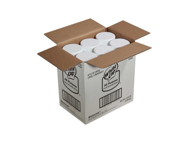 White Cap All Purpose Pan Spray, 0.87 Pound -- 6 per case.
