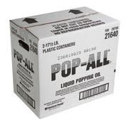 Pop All Popcorn Seasoning Oil, 17.5 Pound Jug -- 2 per case.