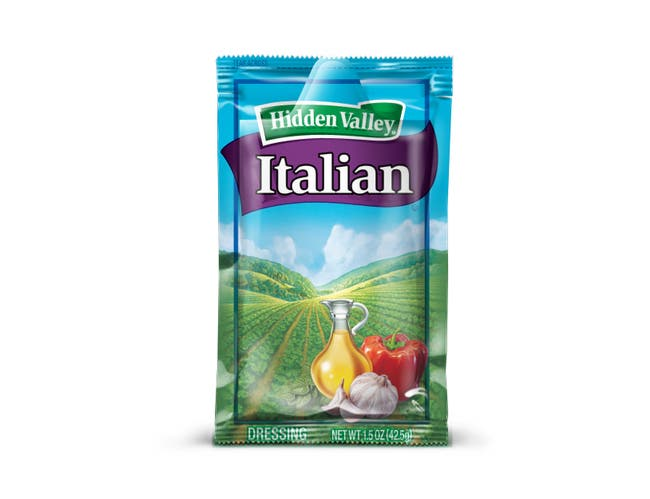 Hidden Valley Italian Portion Pack Dressing -- 84 Case 1.5 Ounce