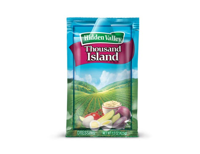 Hidden Valley Thousand Island Portion Pack Dressing -- 84 Case 1.5 Ounce