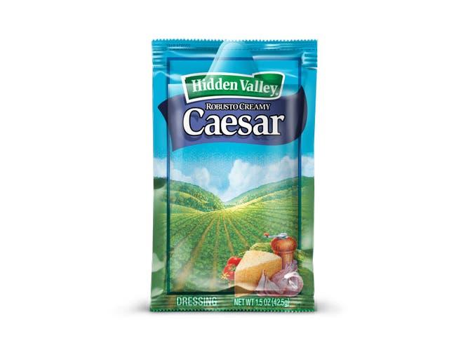 Hidden Valley Creamy Caesar Portion Dressing Pack, 1.5 Oz -- 84 Per Case