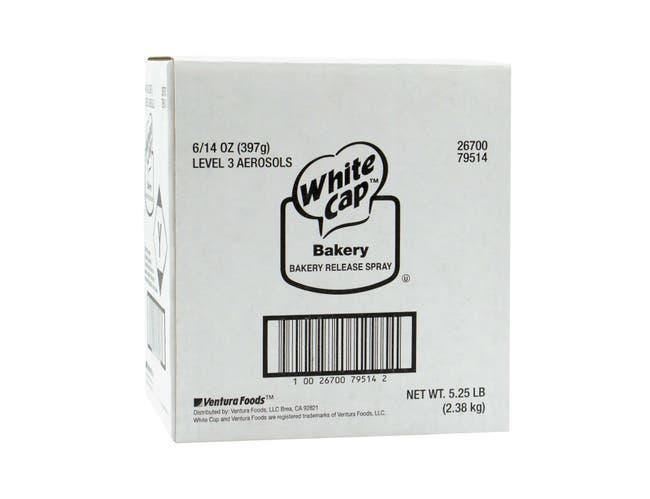 White Cap Baking Release Aerosol -- 6 Case 14 Ounce