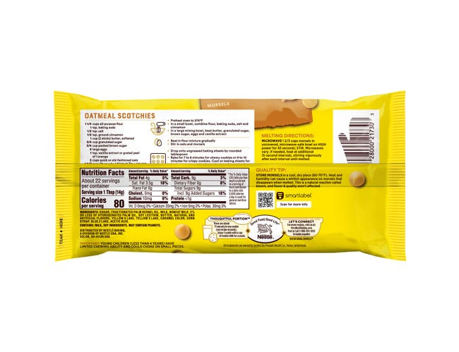 Nestle Toll House Butterscotch Morsel, 11 Ounce -- 12 per case.