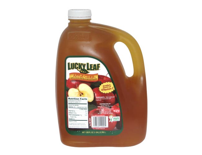 Knouse Foods Lucky Leaf Apple Cider Juice in 128 Ounce Plastic -- 4 per case.