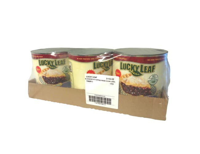 Lucky Leaf Premium Clean Label Blueberry Fruit Filling Or Topping, 116 Ounce -- 3 per case.