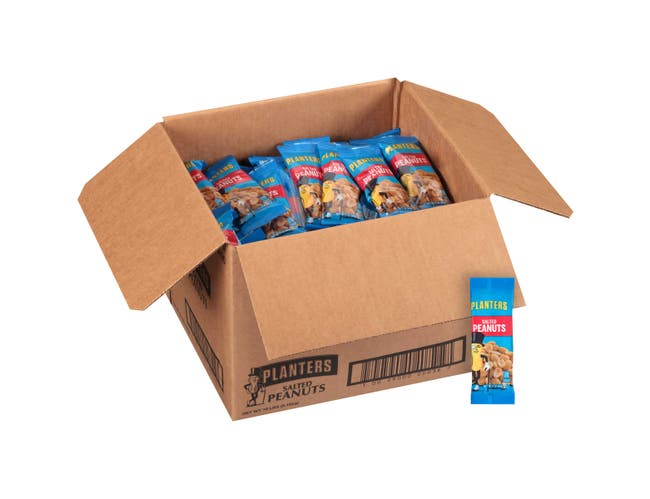 Planters Salted Peanut Snacks, 2 Ounce -- 144 per case.