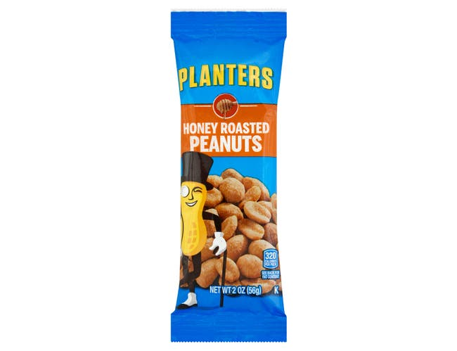 Planters Snack Nuts Honey Roast Peanuts, 2 Ounce -- 144 per case.