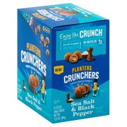 Planters Sea Salt and Black Pepper Peanut Crunchers, 2.25 Ounce -- 18 per case.