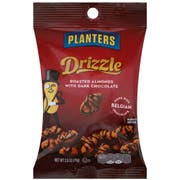 Planters Dark Chocolate Drizzle Almond Snack Nuts, 2.5 Ounce -- 18 per case.