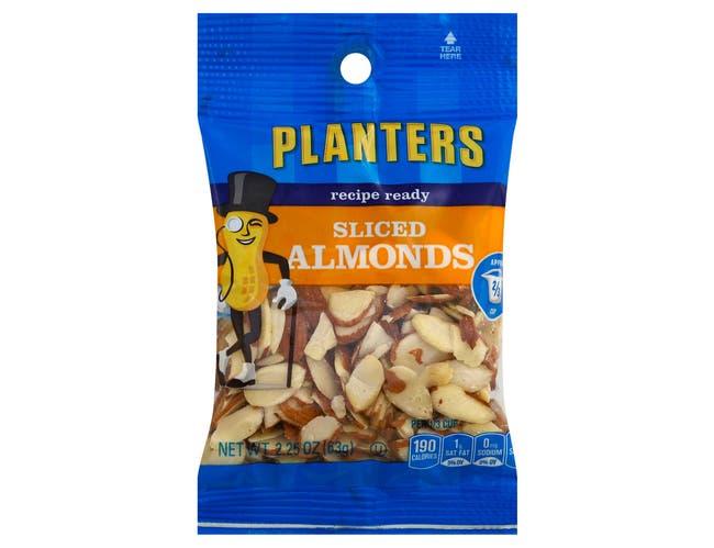 Planters Almonds Sliced Nut,  2.25 Ounce --12 Case