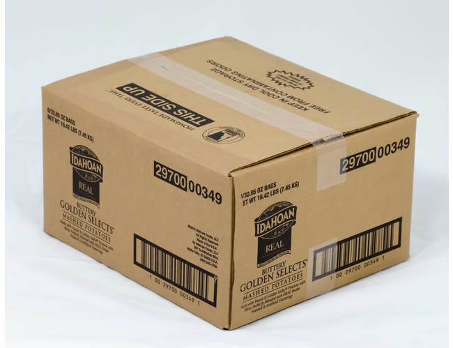 Idahoan Buttery Golden Selects Mashed Potatoes, 32.5 Ounce -- 8 per case.