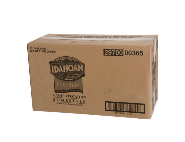 Idahoan Premium Homestyle Mashed Potatoes, 28 Ounce -- 12 per case.