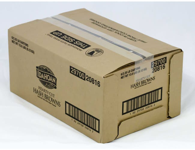 Idahoan Hearty Cut Hash Browns Potatoes, 2.25 Pound -- 6 per case.