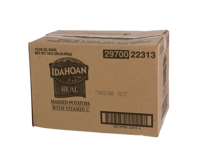 Idahoan Real Mashed Potatoes with Vitamin C, 26 Ounce -- 12 per case.