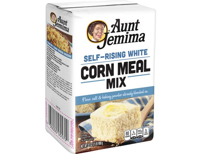 Pepsico Aunt Jemima White Cornmeal Mix, 2 Pound -- 12 per case.