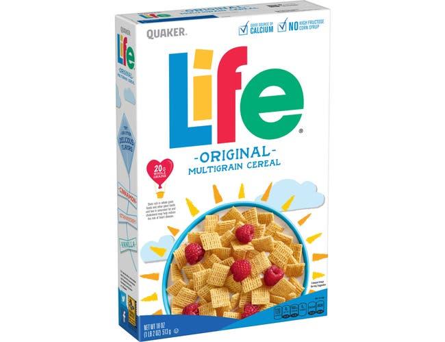 Quaker Life Original Cereal, 18 Ounce -- 14 per case.