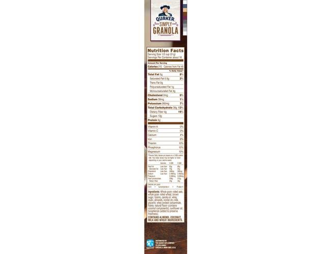 Pepsico 100 Percent Natural Fruit Cereal, 28 Ounce -- 12 per case.