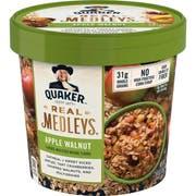 Quaker Real Medley Apple Walnut Oatmeal, 2.64 Ounce -- 12 per case.