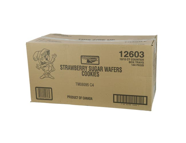 Kelloggs Keebler Strawberry Sugar Wafer Cookies, 2.75 Ounce -- 144 per case.