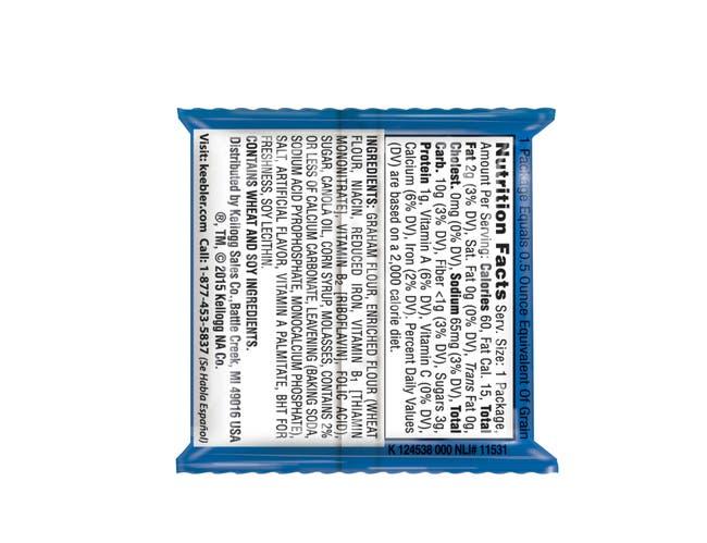 Cracker Keebler Plain Graham 200 Case 2 Count
