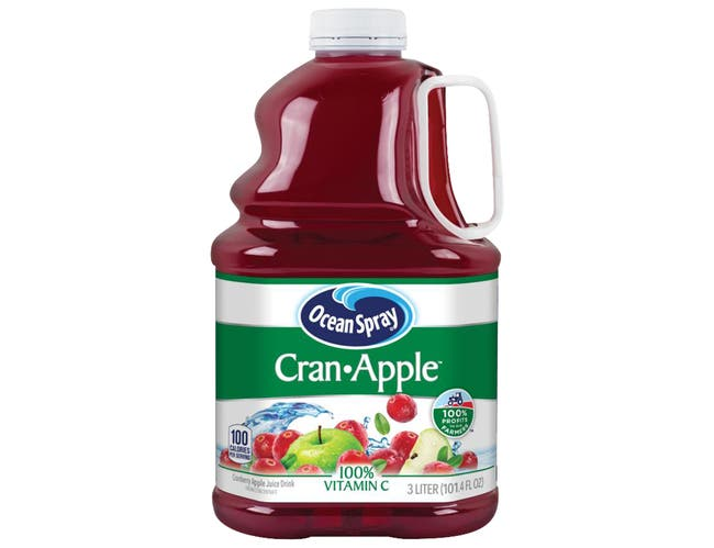Ocean Spray Cran-Apple Cranberry Apple Juice Drink, 3 Liter -- 6 per case.