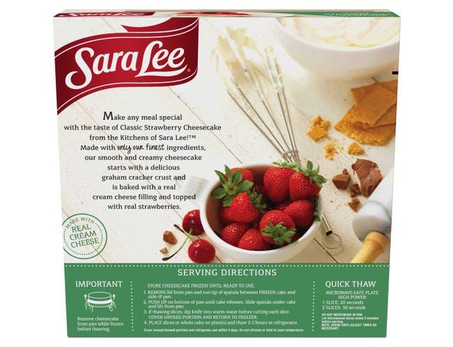 Sara Lee Strawberry Original Cream Cheesecake, 19 Ounce -- 10 per case.