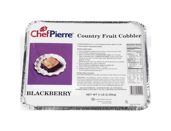 Sara Lee Chef Pierre Blackberry Cobbler, 5 Pound -- 2 per case.