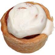 Sara Lee Oven Fresh Par-Baked Plus Cream Cheese Cinnamon Roll, 4.75 Ounce -- 24 per case.