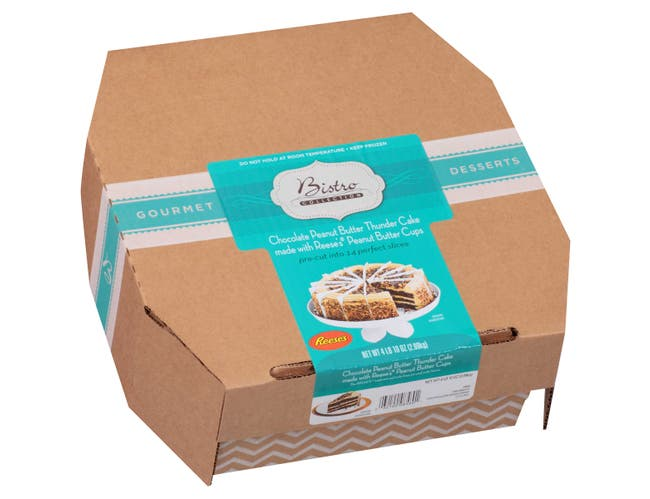 Sara Lee Round Chocolate Peanut Butter Thunder Premium Butter Cream Layer Cake, 71 Ounce -- 2 per case.