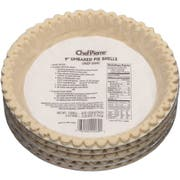 Sara Lee Chef Pierre Unbaked Lard Shortening Pie Shell, 9 inch -- 20 per case.