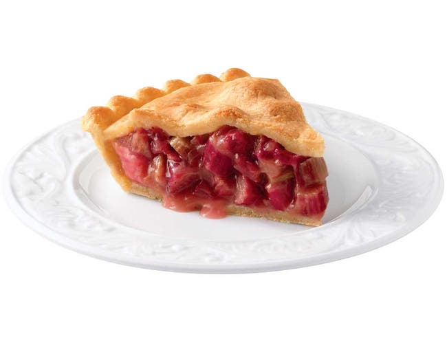 Sara Lee Chef Pierre Unbaked Rhubarb High Pie, 10 inch -- 6 per case.