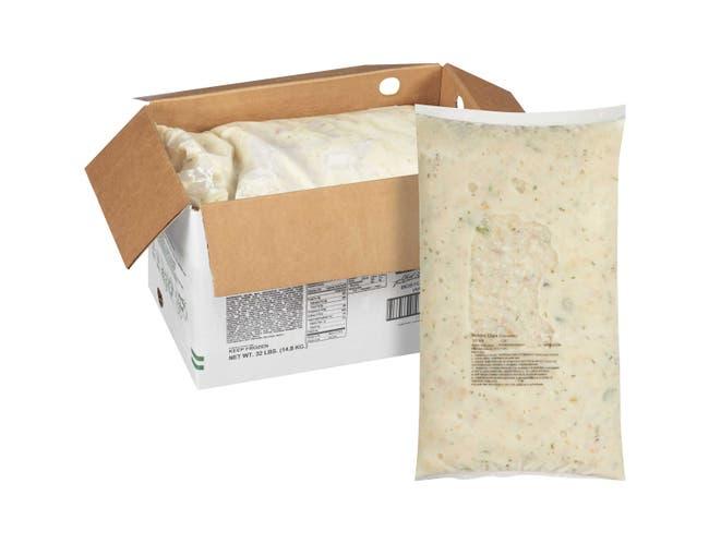 Chef Francisco Boston Clam Chowder Soup - 8 lb. bag, 4 per case