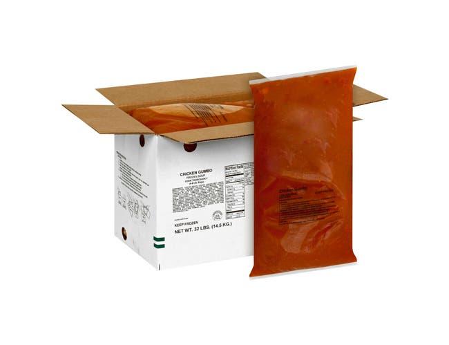 Chef Francisco Chicken Gumbo - 8 lb. bag, 4 per case