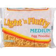 Light N Fluffy Medium Egg Noodles Pasta, 12 Ounce -- 12 Case