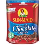Sunmaid Milk Chocolate Covered Raisins, 7 Ounce -- 6 per case